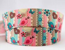 1M X 22mm Grosgrain Ribbon Craft DIY Cake Decorations Hair Bows - Little Bird