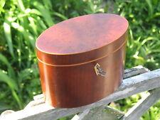 New listing Antique Early American 19th C. Inlaid Tea Caddy Birds Eye Maple Mahogany & Key