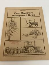 Vintage Farm Machinery Management Guide Agriculture
