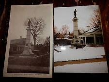 BROOKLYN CT - CIVIL WAR - SOLDIERS MONUMENT - OLD Postcard plus MODERN PHOTO