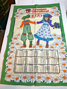 Schwaben International 1979 Calendar Tea Towel