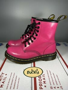 Doc Martens Hot Pink Air Wair Patent Leather Boots Women's Size 5