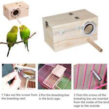New Wooden Wood Nesting Nest Boxes Bird House Small Birds Sparrow Blue Tit Robin