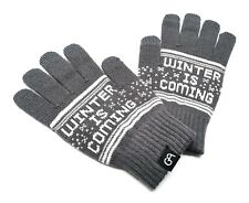 Touch screen Wool Gloves Grey Game of Thrones inspired Winter is coming