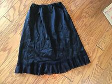 S 1960s Black Nylon Half Slip Lace Trim Lingerie Boudoir 60s