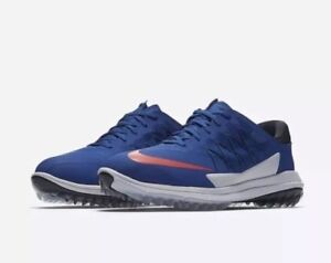 Nike Lunar Control Vapor Men's Golf Shoe Blue White Red 849971-401 Size 12