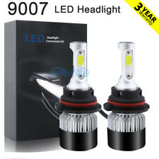 9007 HB5 Hi-Lo Beam LED Headlight Bulbs 6000K White For Ford Mustang 1994-2004