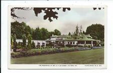 Real Photo Post Card Postcard Victoria British Columbia BC Canada Butchart