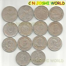 Very Rare 14 Different Copper Nickel 2 Rupees Commemorative Two Rupees Coins Set