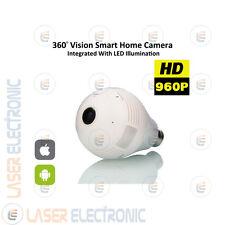 Telecamera IP Wifi Visione 360° Nascosta dentro Lampadina Connessione Cellulare