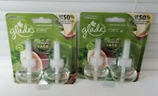 4x Glade Limited Edition ACOUSTIC SAGE PlugIns Scented Oil Refills (2-2Packs)