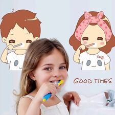 Come Brush Teeth With Me! Toilet Bathroom Wall Sticker Tile Art Decal Room Decor