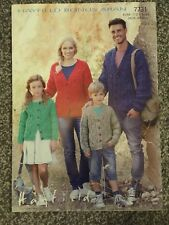 "Hayfield Aran Knitting Pattern 7731 Ladies Mens Kids Cardigan 24-46"" (2351 M2"