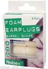 Noise-X Foam Barrel Ear plugs - 2 Pairs