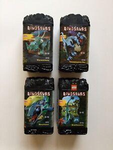 Lego Dinosaurs Styracosaurus Brachiosaurus Mosasaurus & Tyrannosaurus Rex Boxes