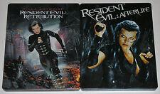 Horror Blu-ray Lot - Resident Evil Afterlife & Retribution (Used) Steelbooks