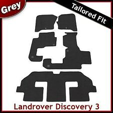 Landrover Discovery 3 7 Seater Tailored Fitted Car Mats GREY 1 Clip