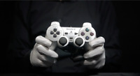 Official Playstation 2 Controller Silver - 'The Masked Man
