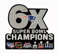 SUPER BOWL 53 LIII PATRIOTS CHAMPIONS PATCH 6X SUPERBOWL Champ NFL Brady Jersey