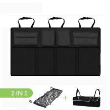 Auto Car Organizer Trunk Rear Back Seat Storage Bag Mesh Net Pocket Universal