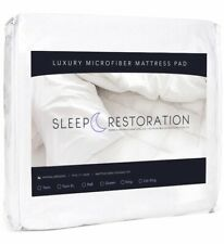 Sleep Restoration Fitted Mattress Pad Protector Luxury Microfiber Cover ~ KING