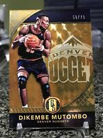 2016-17 Gold Standard #188 Dikembe Mutombo Rare AU Parallel SSP /79 Nuggets!!!