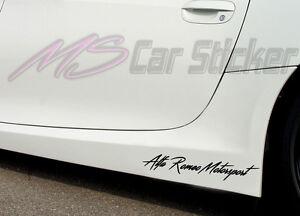 Alfa Romeo Motorsport Car Sticker Film SPORTS Mind Limited Edition