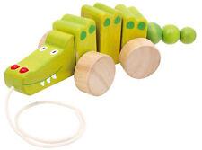 Nachzieh Krokodil Holz Baby Kleinkind Kinder Tier  Spielzeug