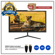 """New 27"""" Monitor 1920 x 1080 HDMI included VGA 60hz 5ms HD LED Computer Adjust"""