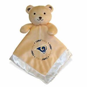 LA Los Angeles / St Louis Rams 14 x 14 inch Security Bear Baby Blanket