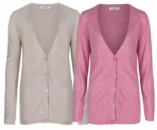Marks and Spencer Women's Long Sleeve V Neck Button Jumpers & Cardigans
