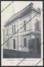 MONZA VIMERCATE 22 TEATRO UMBERTO I° Cartolina viaggiata 1902
