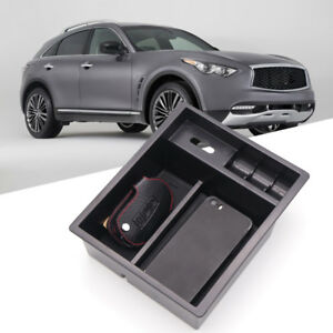 2013-2017 For Nissan Infiniti QX70 Interior Central Armrest Storage Box Box 1pcs
