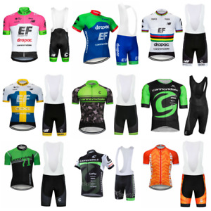 CANNONDALE Men Short Cycling Jersey MTB Gel Bib Pants Bicycle Racing Shirt Suit