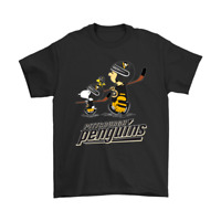 Let's Play Pittsburgh Penguins Ice Hockey Snoopy NHL Funny Black T-shirt S-6XL