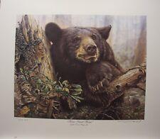 "Denis MAYER Black Bear LTD art print Ducks Unlimited "" Home Sweet Home "" AP"