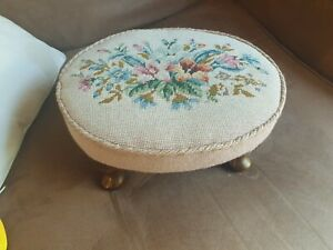 Tapestry Foot Stool 14x12inch X 8 H