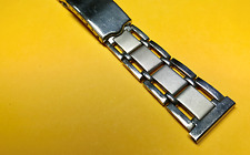 Vintage 1960s Style Stainless Link Watch Bracelet Strap Band NOS Flat End (20MM)