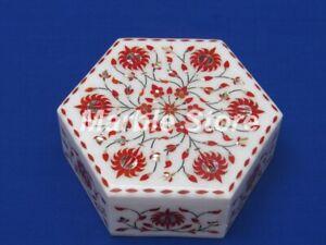 Marmor Schmuckkästchen Halbedelstein Pietra Dura Handmade Für Heim Dekor