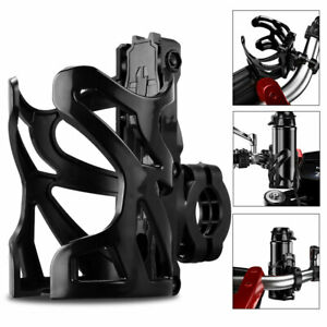 Universal Black Water Drink Cup Handlebar Bottle Holder For Motorcycle Bicycle