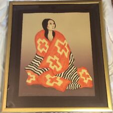"""R. C. Gorman Signed & Numbered Ltd. Ed. """"Chief's Blanket"""" 2nd State"""
