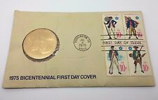 1975 BICENTENNIAL FIRST DAY COVER STAMPS AND PAUL REVERE COIN