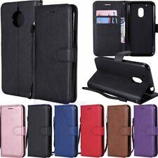 For Motorola Moto G6 G5 G4 Plus E4 E5 Leather Wallet Card Holder Flip Case Cover
