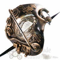 Mens Steampunk Phantom Costume Theater Halloween  Masquerade Mask [Gold]