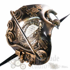 Mens Steampunk Phantom Costume Theater Halloween  Masquerade Mask [Gold]