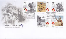 2015 Animals in War (Gummed Stamps) FDC - Canberra ACT 2600 PMK
