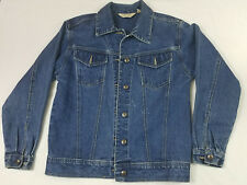 St. John's Bay Womens Denim Jacket Jeans Size Small Long Sleeve Horse Embroidery