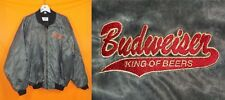 """""""Budweiser King of Beers"""" Bomber Jacket - Lined & Insulated - Gray - XL - EUC"""