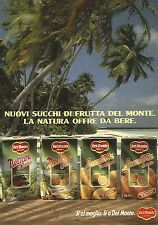 X1364 Succhi di Frutta Del Monte - Pubblicità del 1989 - Vintage advertising