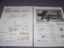 VINTAGE..FIAT CR.42..3-VIEWS/DETAILS/SPECS/CUTAWAY..RARE! (817E)